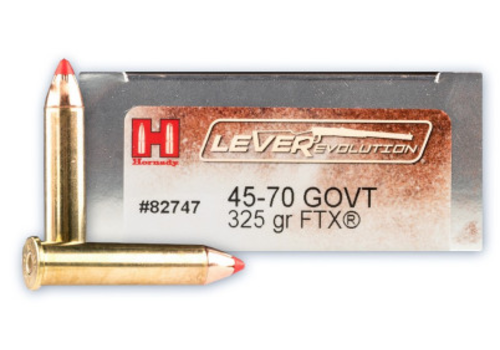 OSA076-HORNADY LEVEREVOLUTION 45-70 GOVT 325GR FTX 20RNDS