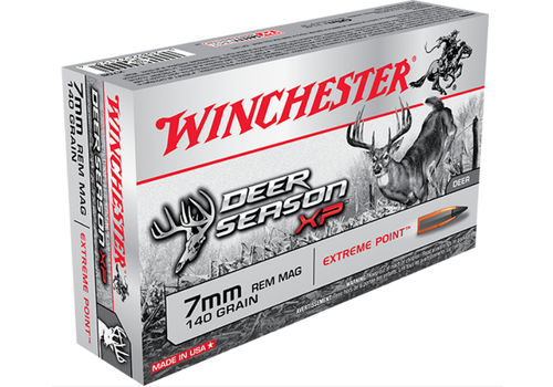 WIN1182-WINCHESTER DEER SEASON 7MM REM MAG 140GR XP 20RNDS