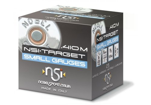 BWA011-NSI (NOBEL SPORT ITALIA) TARGET 410G 76MM 19GM #9.5 1286FPS 25RNDS