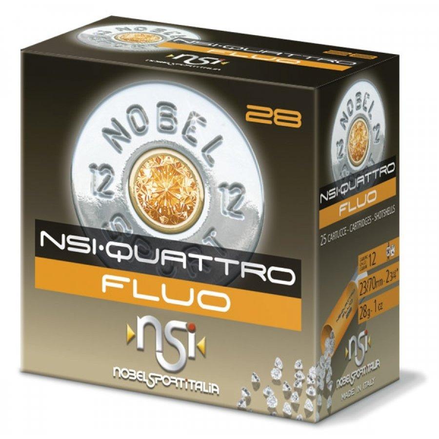 SLAB-NSI-QUATTRO FLUO 12G 28GM #8 250RNDS(BWA015)