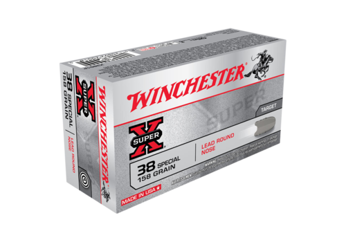 WIN201-WINCHESTER SUPER X 38SP 158GR LRN 50RNDS