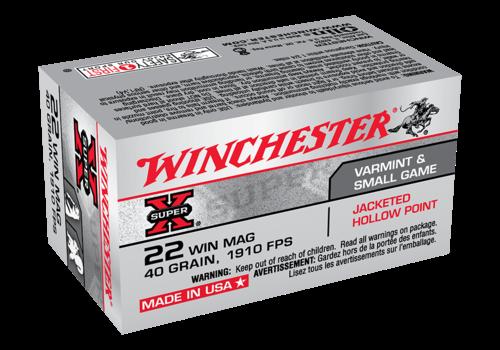 WINCHESTER SUPER X 22WMR 40GR JHP 1910FPS 50RNDS (WIN025)