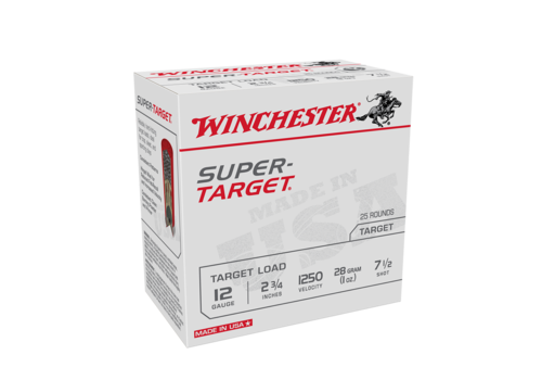 SLAB-WINCHESTER SUPER TARGET 12G 28GM #7.5 1250FPS 250RNDS (WIN1114)