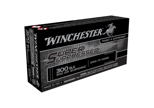 WIN042-WINCHESTER SUPER SUPPRESSED 300 BLACKOUT 200GR OPEN TIP 20RNDS