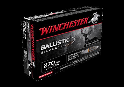 WIN046-WINCHESTER BALLISTIC SILVERTIP 270 WIN 130GR PT 20RNDS