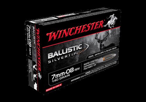 WIN048-WINCHESTER BALLISTIC SILVERTRIP 7MM-08 REM 140GR PT 20RNDS