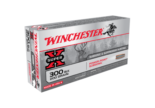 WIN050-WINCHESTER SUPER X 300 BLACKOUT 200GR SUBSONIC PP 20RNDS