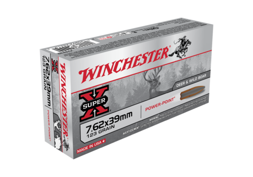 WIN054-WINCHESTER SUPER X 7.62X39 123GR SP 20RNDS