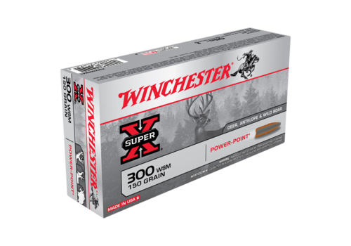 WIN1673-WINCHESTER SUPER X 300 WSM 150GR PP 20RNDS