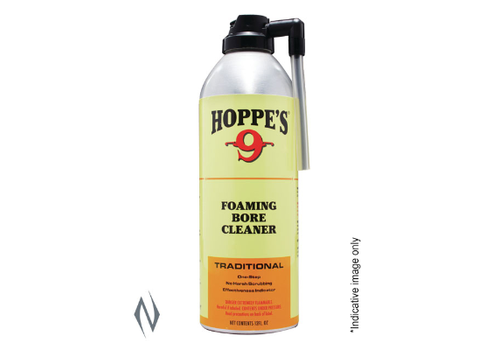 NIO2025-HOPPES 9 FOAMING BORE CLEANER SOLVENT 12OZ