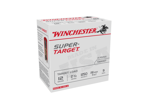 WIN1289-WINCHESTER SUPER TARGET 12G 70MM 28GM #9 1250FPS 25RNDS