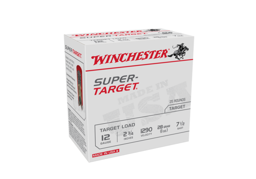 WIN1118-WINCHESTER SUPER TARGET 12G 70MM 28G #7.5 1290FPS 25RNDS