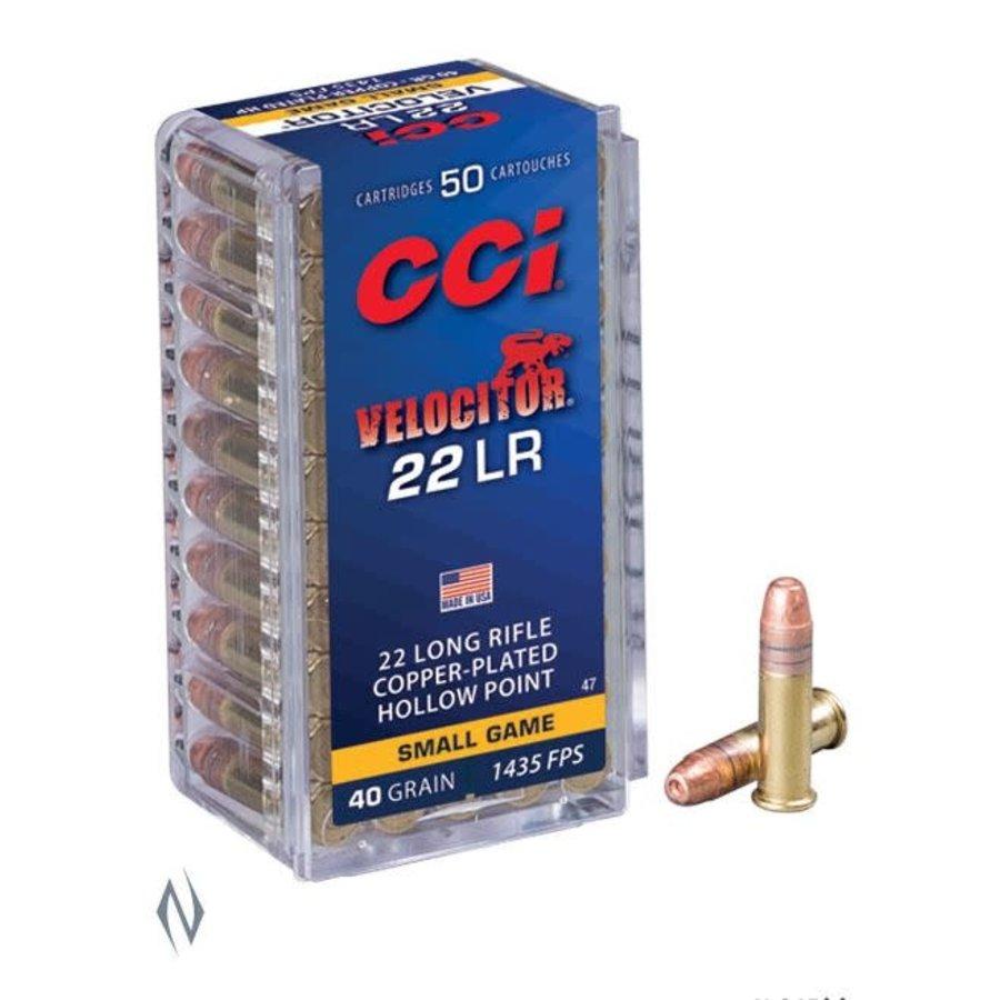 NIO398-CCI VELOCITOR 22LR 40GR CPHP 1435FPS 50RNDS