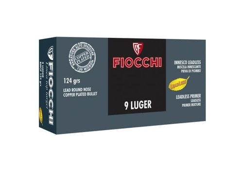 TAS302-FIOCCHI 9MM LUGER 124GR LRN CP LEAD FREE  PRIMER COPPER PLATED 50RNDS