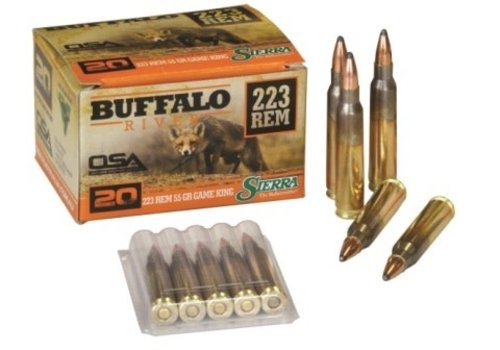 OSA857-BUFFALO RIVER 223 REM 55GR SIERRA GAMEKING 20RNDS