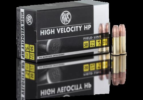RWS HIGH VELOCITY HP 22LR 40GR CPHP50RNDS (OSA686)