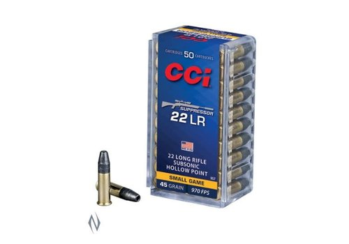 NIO024-CCI SUPPRESSOR 22LR 45GR HP 970FPS 50RNDS