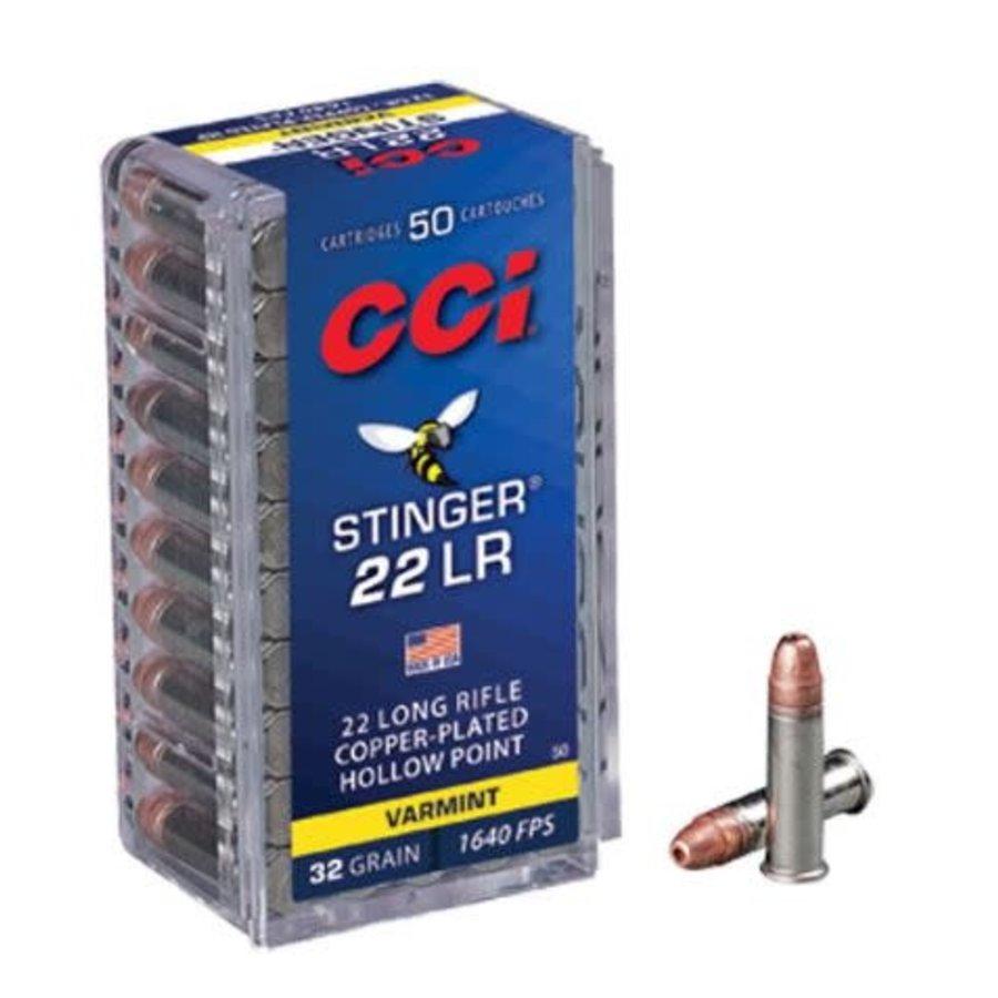 NIO030-CCI STINGER 22LR 32GR CPHP 1640FPS 50RNDS