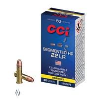 CCI SEGMENTED HP 22LR 32GR CPSHP 1640FPS 50RNDS (NIO1486)
