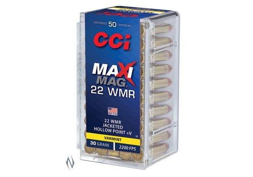 CCI  MAXI MAG 22WMR 30GR HP+V JHP 2200FPS 50RNDS (NIO3063)