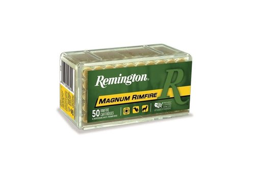 RAY125-REMINGTON MAGNUM RIMFIRE 22WMR 40GR POINTED SP 50RNDS