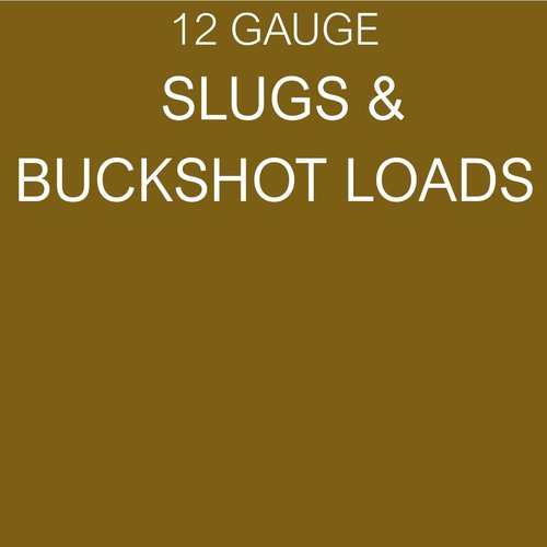 SOLID SLUGS, BUCKSHOT (#4, 0, 00, 000)