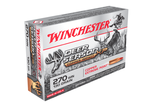 WINCHESTER DEER SEASON COPPER IMPACT LF 270 WIN 130GR XP 20RNDS (WIN1670)