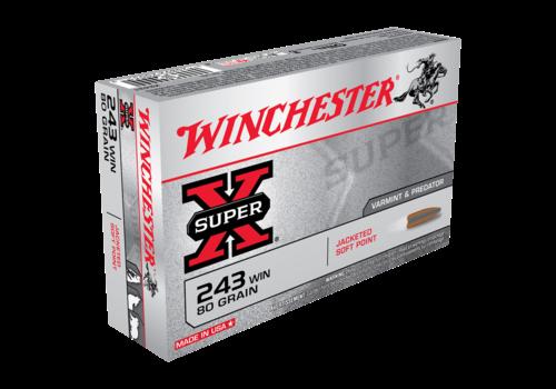 WINCHESTER SUPER X 243 WIN 80GR PSP 20RNDS (WIN237)
