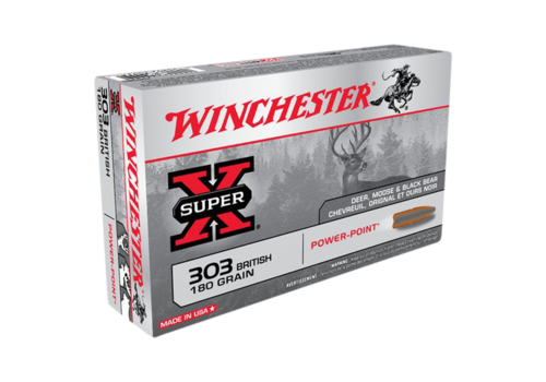 WINCHESTER SUPER X 303 BRITISH 180GR PP 20RNDS (WIN304)