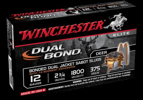 WINCHESTER DUAL BOND 12G 70MM 375GR JACKET SABOT SLUG 1800FPS 5RNDS (WIN2433)