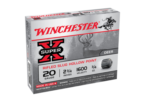 WINCHESTER SUPER X 20G SLUG 70MM 21GM 1600FPS 5RNDS (WIN905)