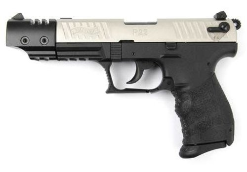 """WALTHER P22 TARGET 5"""" 22LR STAINLESS STEEL (FRO103)"""