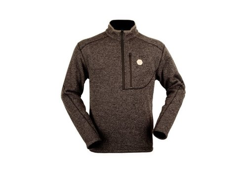 HUNTERS ELEMENT CLARENCE KNIT LS ZIP WALNUT BROWN