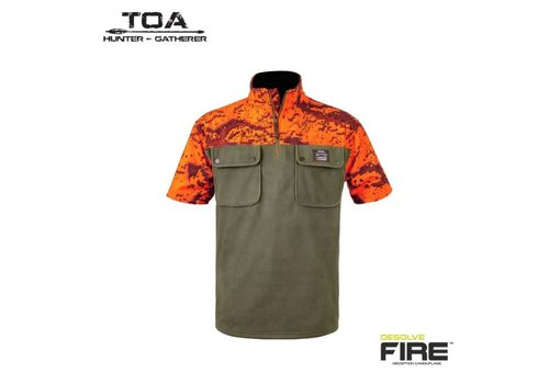 HUNTERS ELEMENT NGAHERE BUSH SHIRT FOREST GREEN/DESOLVE VEIL FIRE
