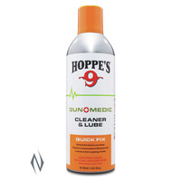 TAS348-HOPPES GUN MEDIC CLEANER AND LUBE 10OZ