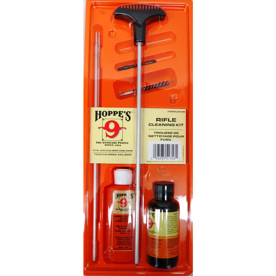 TAS126-HOPPES CLEANING KIT .243CAL AND 6MM