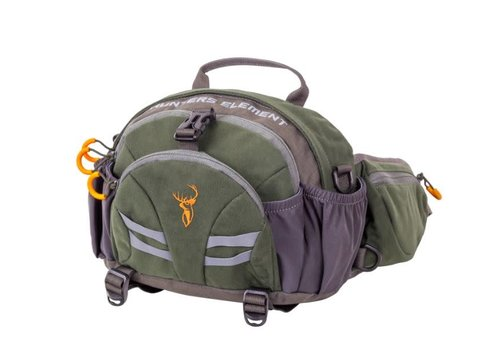 HUE736-HUNTERS ELEMENT DIVIDE BELT BAG FOREST GREEN