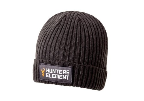 HUNTERS ELEMENT RIVET BEANIE BLACK(HUE887)