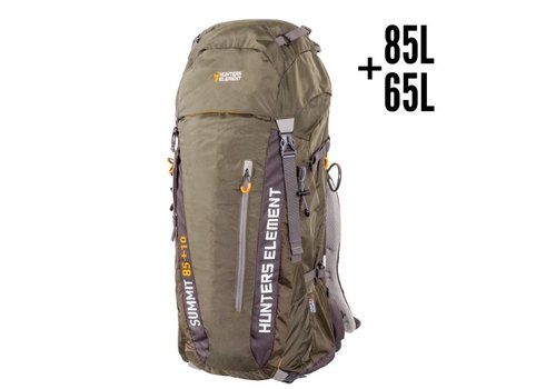 HUE7072-HUNTERS ELEMENT SUMMIT PACK FOREST GREEN 65L