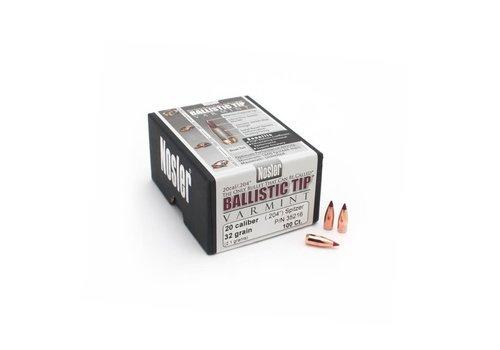 NIO863-NOSLER BALLISTIC TIP VARMINT 204 SPITZER 32GR 100P #35216