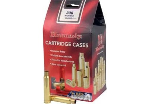 OSA619-UNPRIMED CASES- HORNADY 338 WIN MAG 50P #8680
