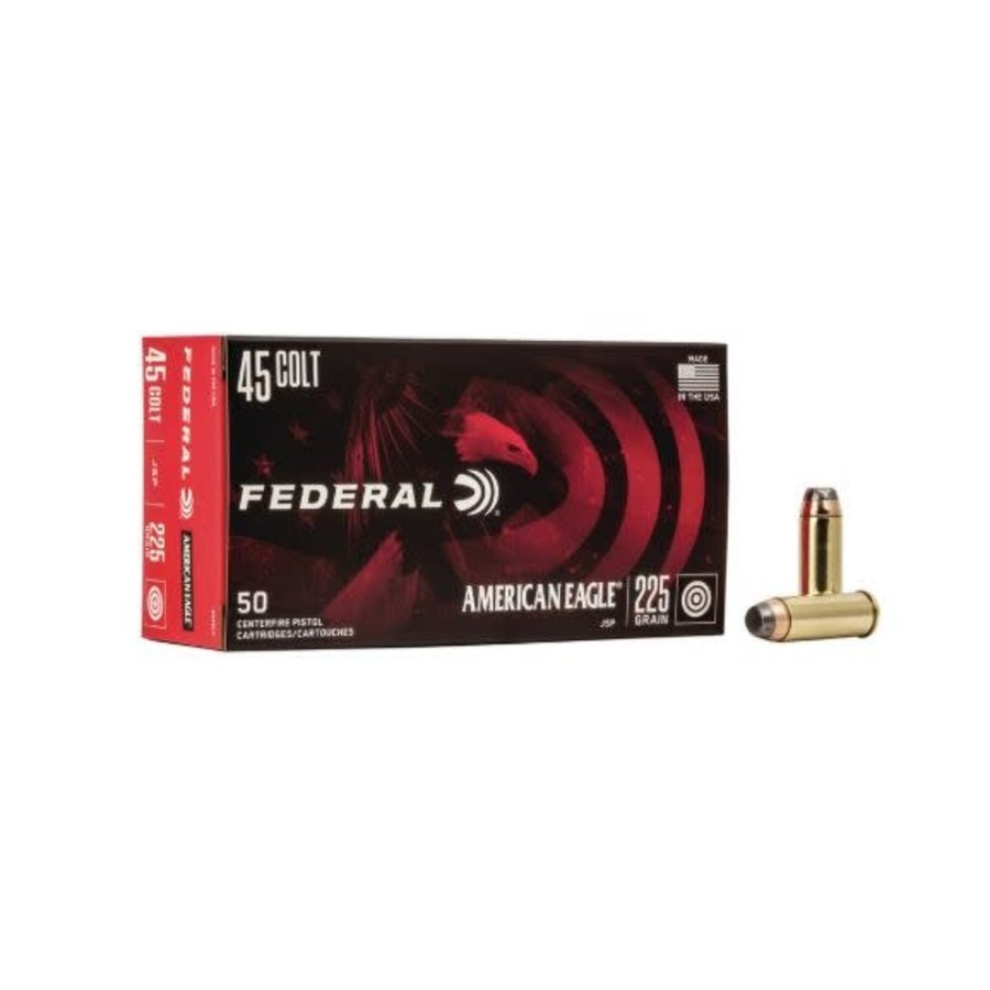 NIO004-FEDERAL AMERICAN EAGLE 45 LC 225GR SP 50RNDS