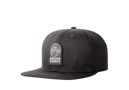 HUNTERS ELEMENT ALP CAP FLAT PEAK BLACK (HUE181)