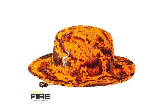 HUE182-HUNTERS ELEMENT BOONIE HAT DESOLVE FIRE