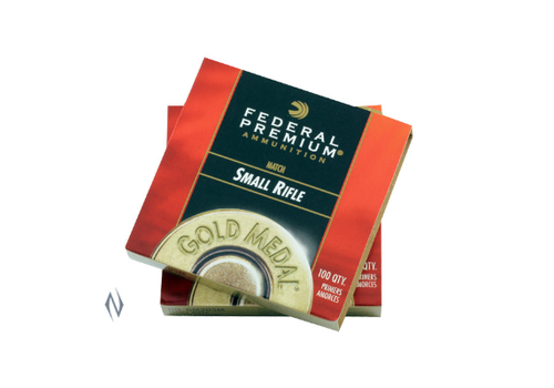 NIO065-PRIMERS-FEDERAL GM205M GOLD MEDAL SMALL RIFLE 100RNDS