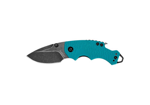 TAS037-KNIFE-KERSHAW SHUFFLE TEAL BLACKWASH