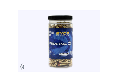 FEDERAL BYOB 22WMR 50GR JHP 1530FPS 250RNDS BOTTLE (NIO089)
