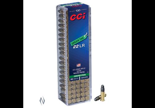 CCI GREEN TAG 22LR 40GR 1070FPS LRN 100RNDS (NIO392)