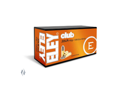 NIO094-ELEY CLUB 22LR 40GR 1085FPS 50RNDS