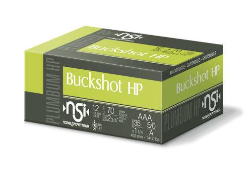 NSI BUCKSHOT HP 12G 70MM 35GM #AAA SLAB 250RNDS (BWA004)